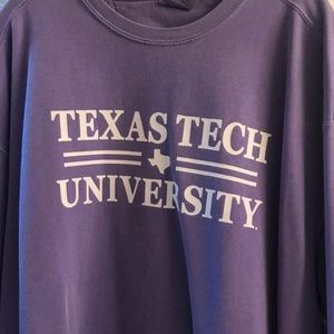 Texas Tech lavender Comfort Colors sweatshirt 2xl